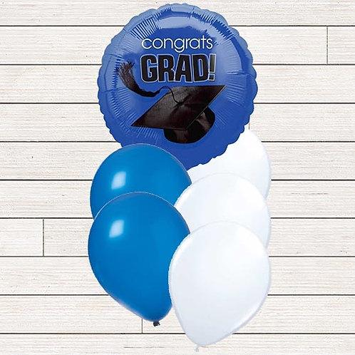 Blue Grad Balloon Bouquet