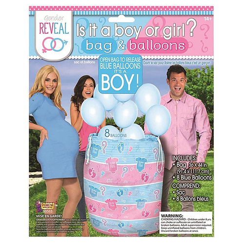 Gender Reveal Bag Balloon Release FLAT