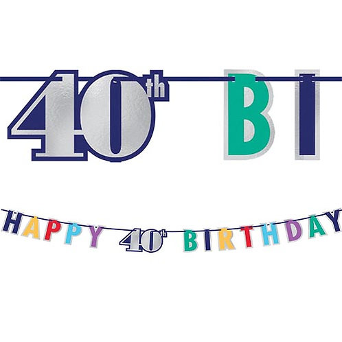 40th Multi Milestone Letter Banner