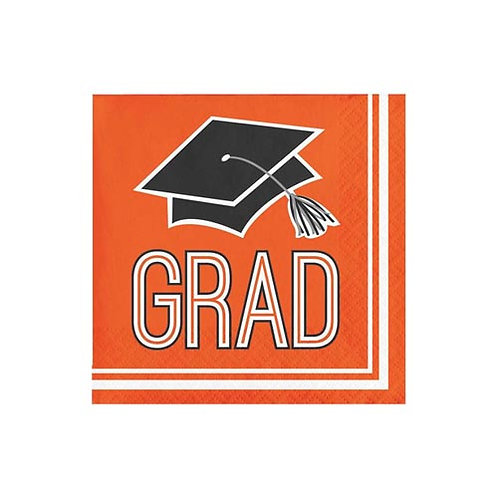 Orange Grad Beverage Napkins 36ct.