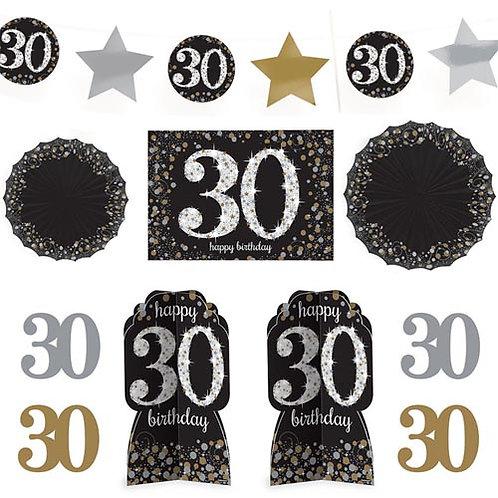 30th Sparkling Milestone Decorating Kit