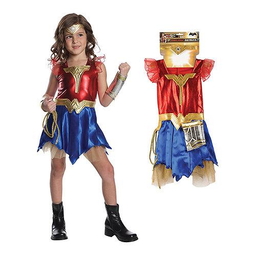 Wonder Woman Girl's Costume Set