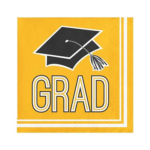 Yellow Grad Lunch Napkins 36ct.