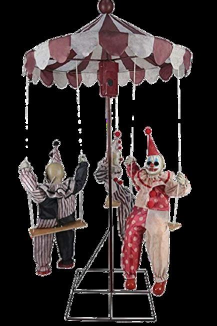Clown Go Round Animated Prop