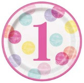1st Birthday Girl Dots
