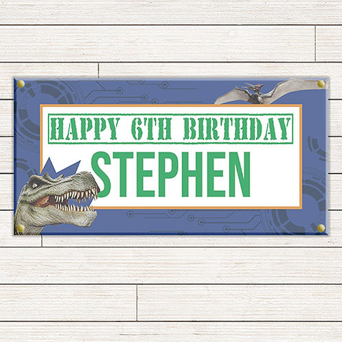 Personalized 2'x4' Dinosaur Banner