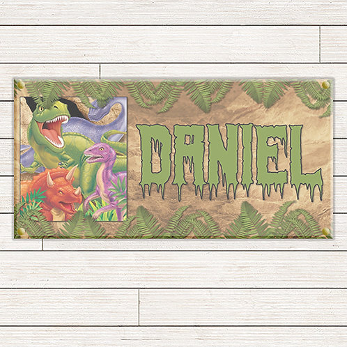 Simple Dinosaur 2'x4' Banner