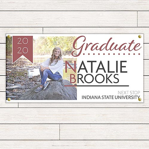 Abstract Graduation Banner