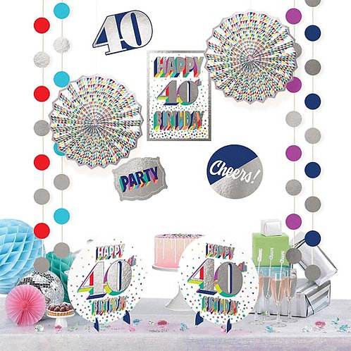 40th Multi Milestone Decorating Kit