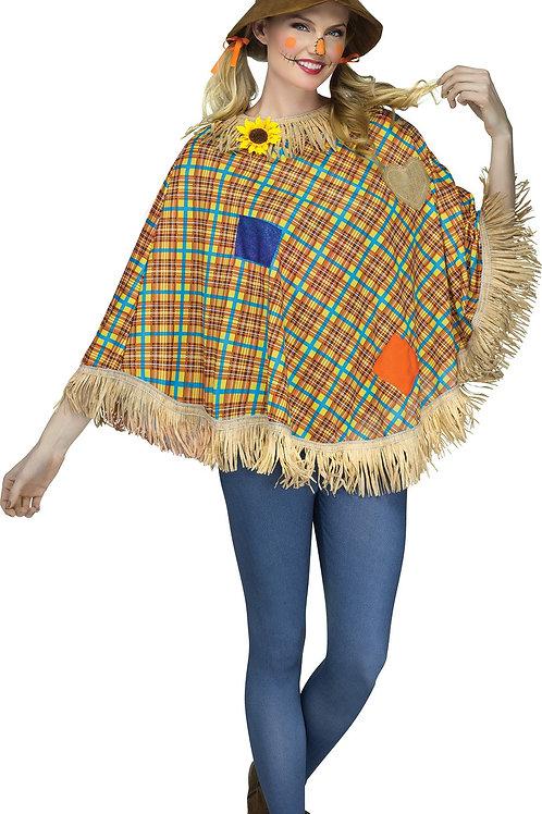 Scarecrow Women's Poncho Costume