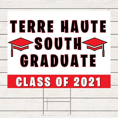 Basic Terre Haute South Grad Yard Sign