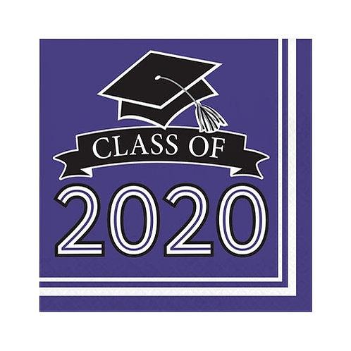 2020 Purple Grad Lunch Napkins 36ct.
