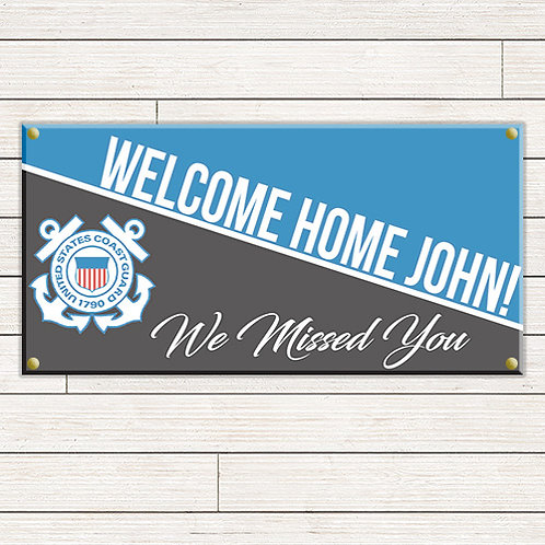 Coast Guard Welcome Home 2'x4' Banner
