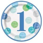 1st Birthday Boy Dots