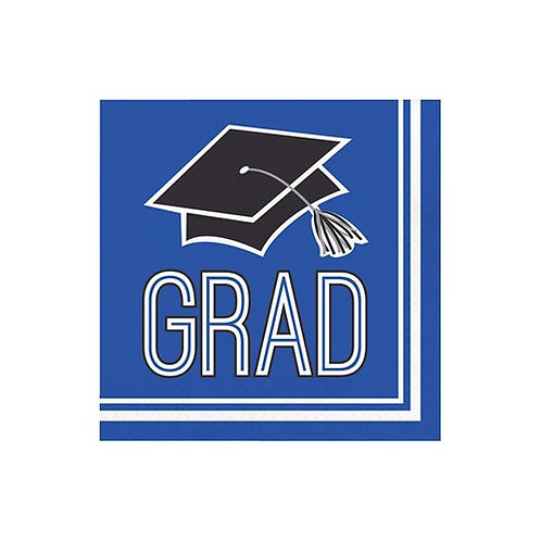 Blue Grad Beverage Napkins 36ct.
