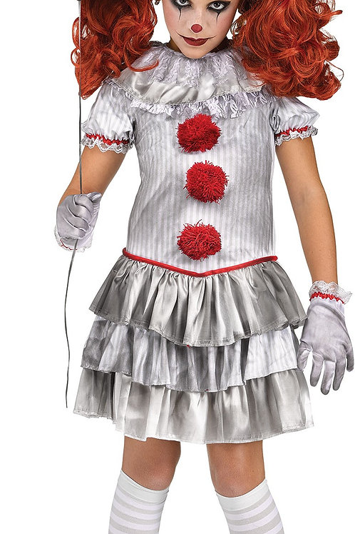 Carnevil Clown Girl's Costume