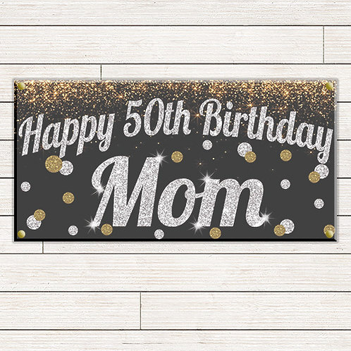 Glitter Dots Birthday 2'x4' Banner