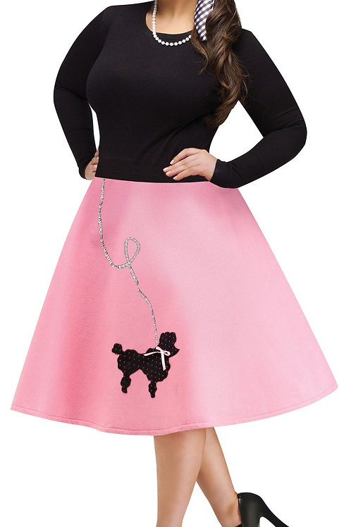 Women's Plus Poodle Skirt