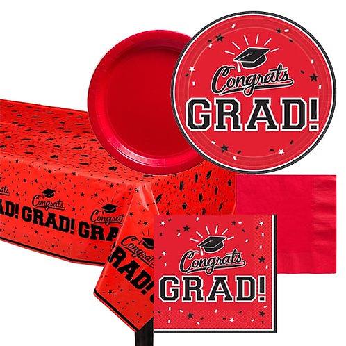Red Grad Tableware Kit