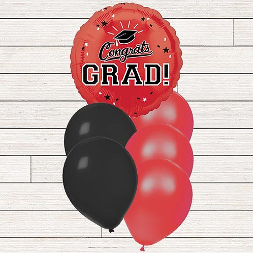 Red Grad Balloon Bouquet