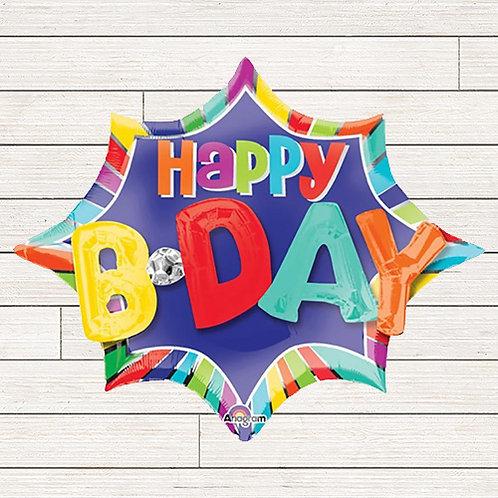 "35"" Giant 3D Birthday Mylar Balloon"