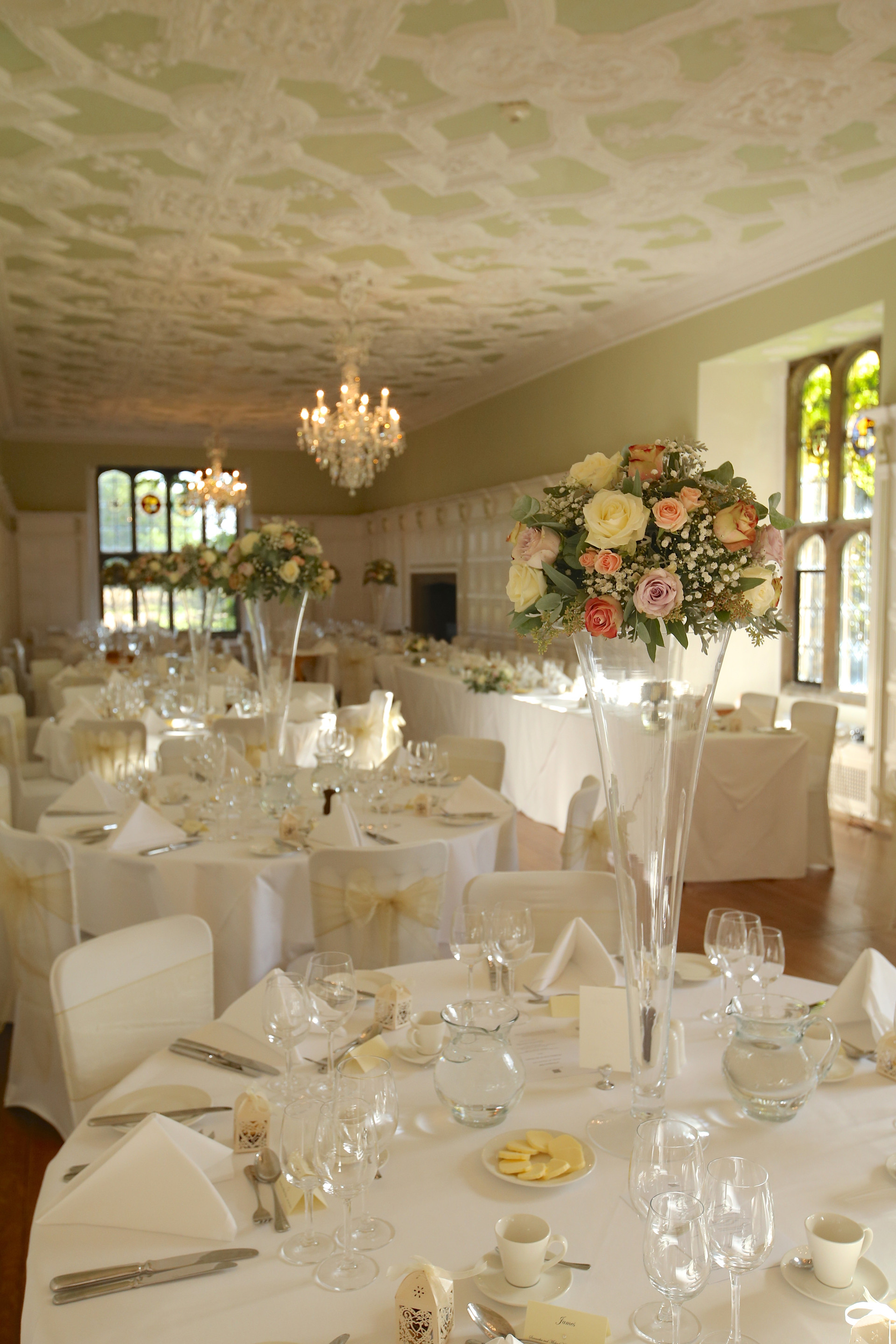 Tall flutes at Hengrave Hall