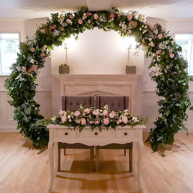 Moongate arch at Woodhall Manor due to t