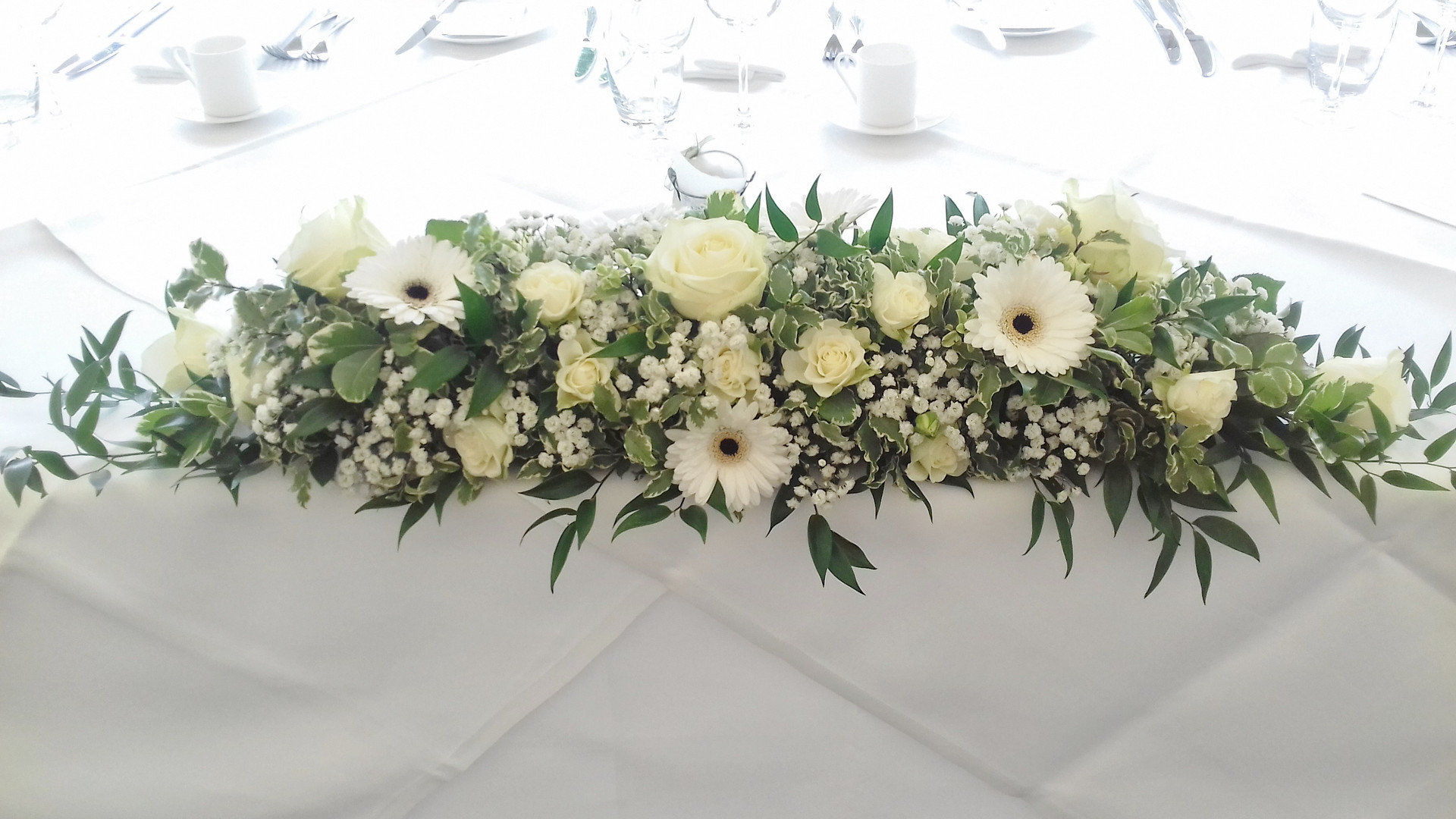Wedding top table long low