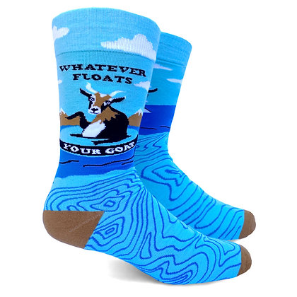 Whatever Floats Your Goat mens crew socks