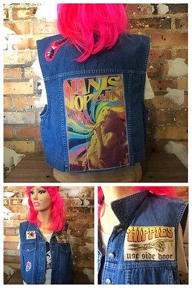 Janis Joplin Vintage Denim Vest