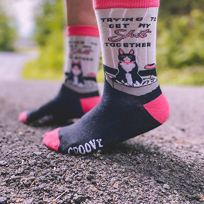 Trying to Get My Shit Together socks