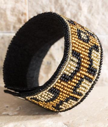 Here Kitty Kitty beaded leopard bracelet