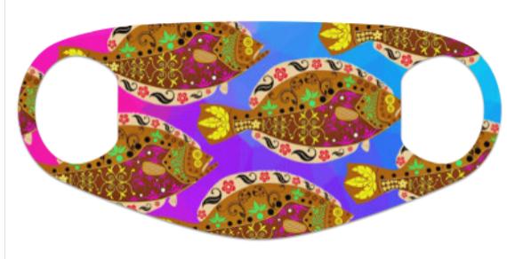 Dia De Los Flounder Neoprene Mask