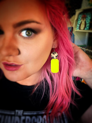 High Voltage leather earrings