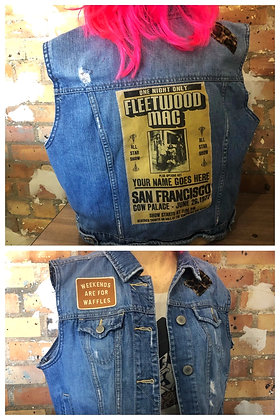 Fleetwood Mac Vintage Denim Vest