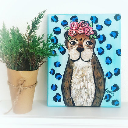 Funky Otter Painting 8x10