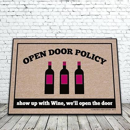 Open Door Policy floor mat