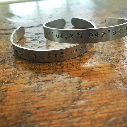 Rockport Co-Ordinates Cuff Bracelet