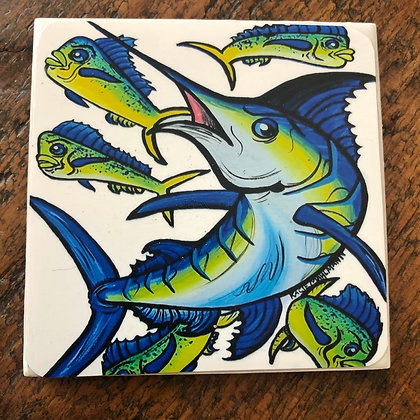 Marlin & Mahi Tile Coaster