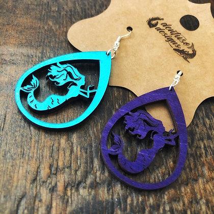 Two-Tone Mermaid Earrings