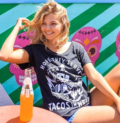 Hope They Serve Tacos in Hell Ladies Slub Tee