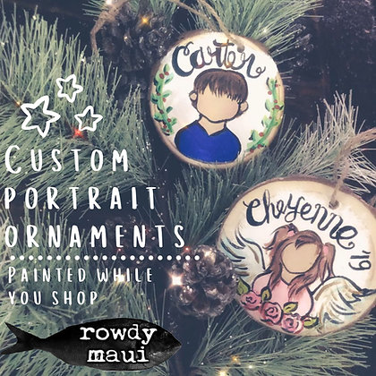 Custom Portrait Ornament