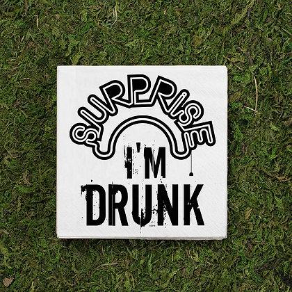 Surprise I'm Drunk Cocktail Napkins