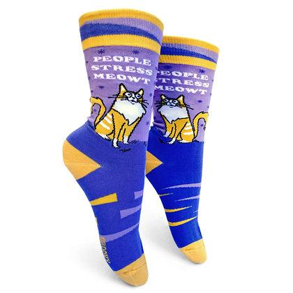 People Stress Meowt womens crew socks