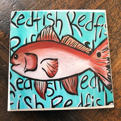 Redfish Tile Coaster