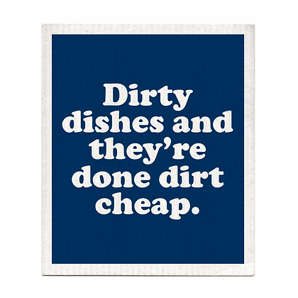 Dirty Dishes Done Dirt Cheap Swedish Dishcloth