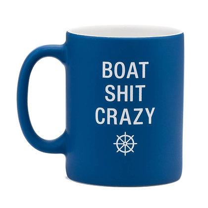 Boat Shit Crazy coffee mug