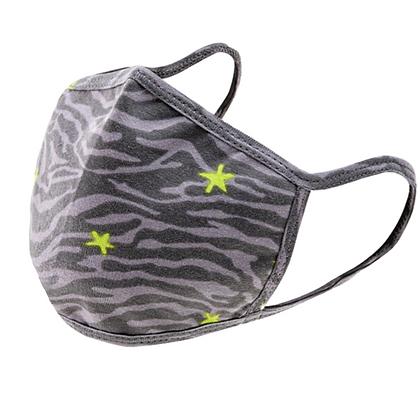 Zebra Print & Neon Star mask