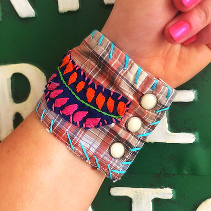 Electric Rodeo Vintage Embroidered Cuff Bracelets