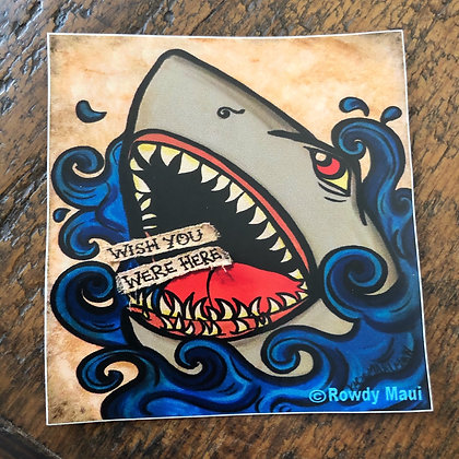 Wish You Were Here Shark Decal